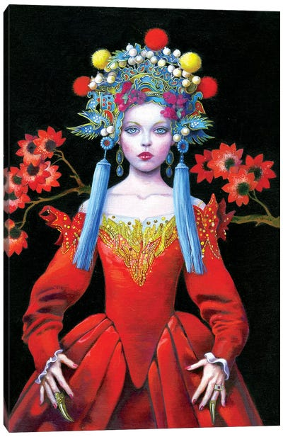 China Red Queen Canvas Art Print