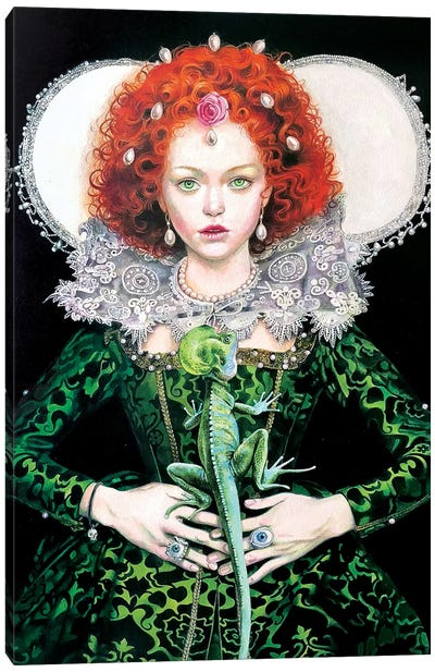 Elizabeth E Il Basilisco Canvas Art Print
