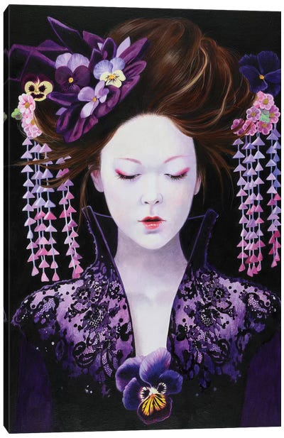 Punu Viola Canvas Art Print