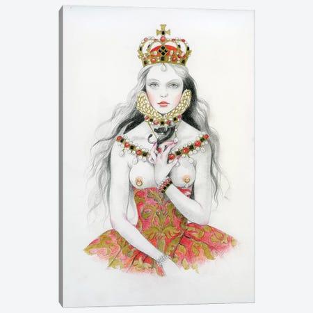 Queen VI - Elizabeth Canvas Print #TGA69} by Titti Garelli Canvas Art Print