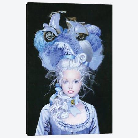 Vespa Queen Canvas Print #TGA71} by Titti Garelli Canvas Artwork