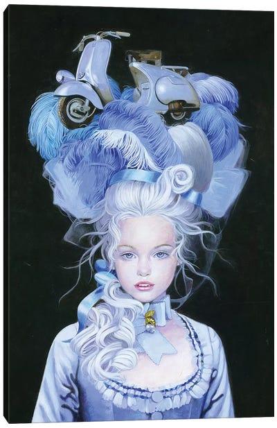 Vespa Queen Canvas Art Print