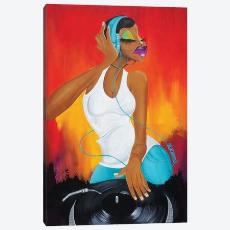 Hey Ms. DJ Canvas Print #TGL10} by Tiffani Glenn Canvas Print