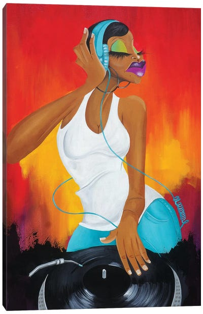 Hey Ms. DJ Canvas Art Print