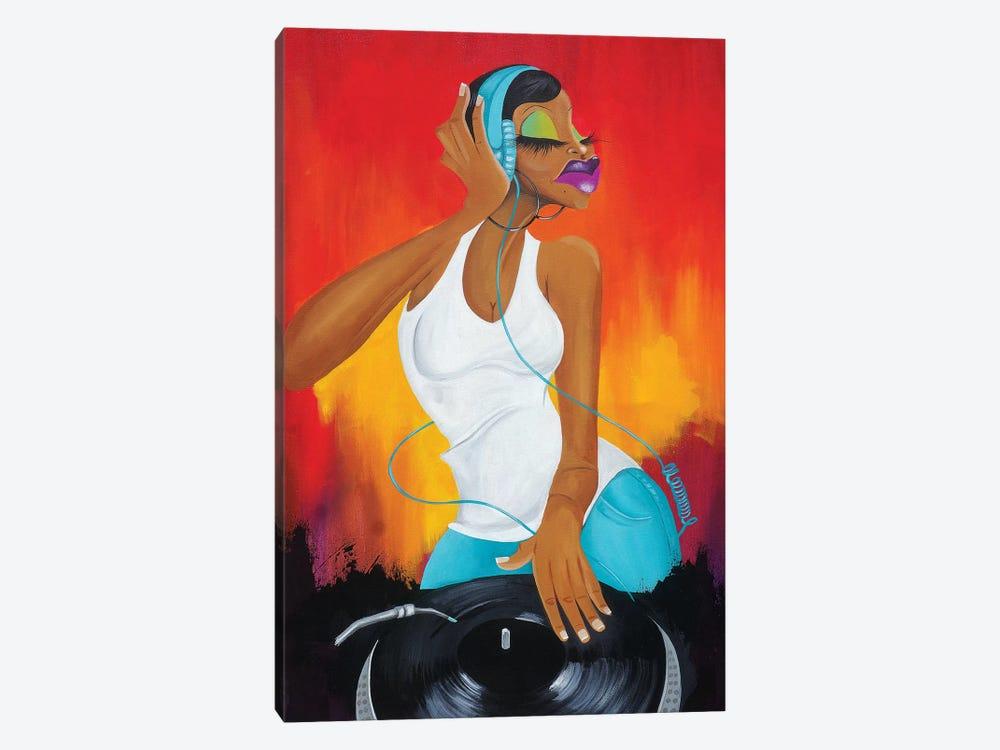 Hey Ms. DJ by Tiffani Glenn 1-piece Art Print