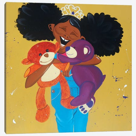 Huggable Harriet Canvas Print #TGL11} by Tiffani Glenn Canvas Art Print