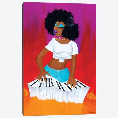 On The Keys 2018 Canvas Print #TGL13} by Tiffani Glenn Canvas Print