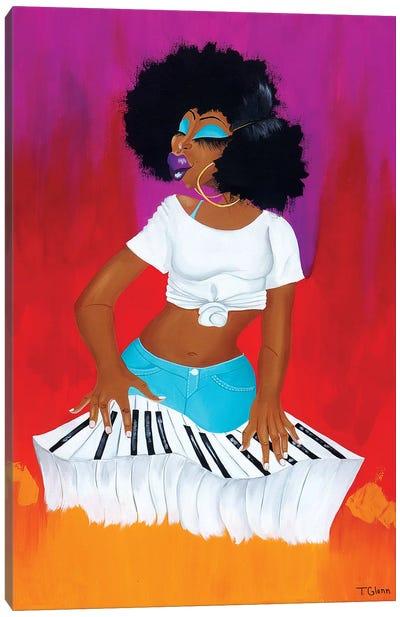 On The Keys 2018 Canvas Art Print
