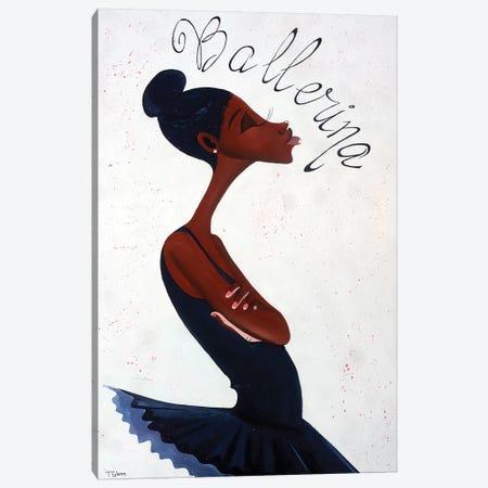 The Ballerina Canvas Print #TGL16} by Tiffani Glenn Canvas Artwork