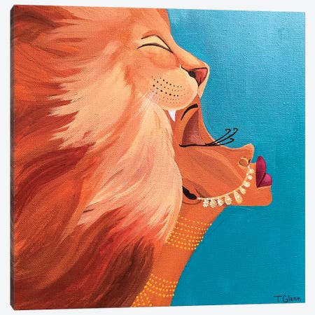 The Lioness Canvas Print #TGL18} by Tiffani Glenn Art Print