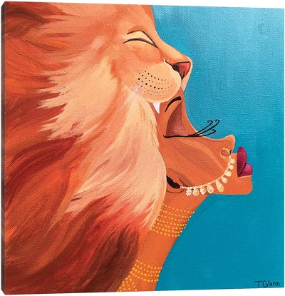 The Lioness Canvas Art Print