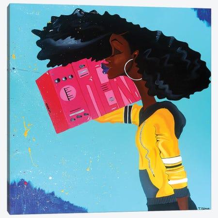 Listening To My Dreams Canvas Print #TGL20} by Tiffani Glenn Canvas Art