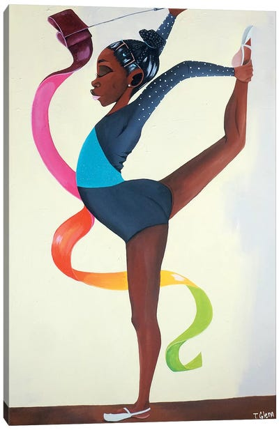 Little Gymnast Canvas Art Print