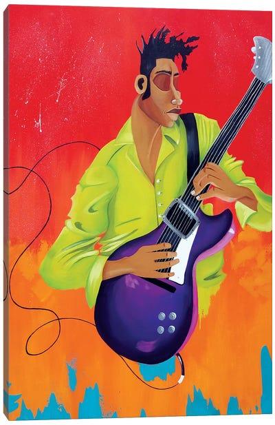 Playing Bass Canvas Art Print
