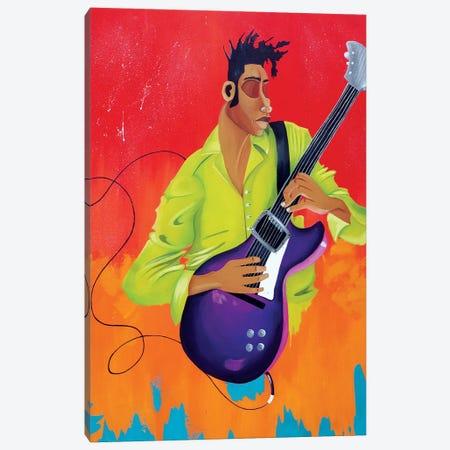 Playing Bass Canvas Print #TGL22} by Tiffani Glenn Canvas Artwork