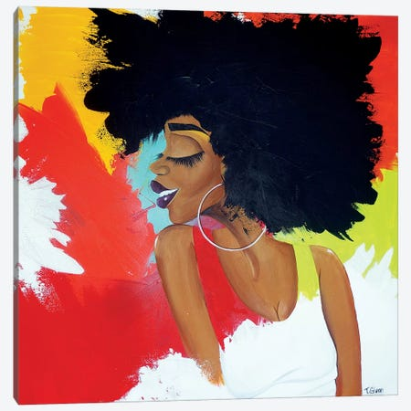 Chameleon Canvas Print #TGL3} by Tiffani Glenn Canvas Wall Art