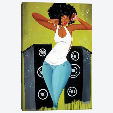 Feel the Music Canvas Print #TGL5} by Tiffani Glenn Art Print