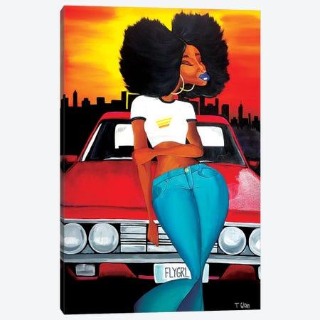 Fly Girl Canvas Print #TGL6} by Tiffani Glenn Art Print