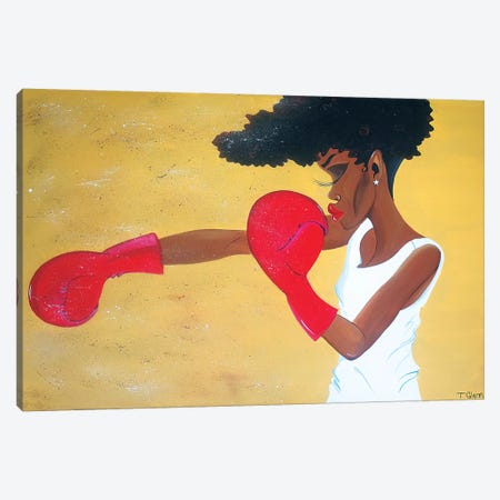 Heart Of A Champion Canvas Print #TGL7} by Tiffani Glenn Canvas Print