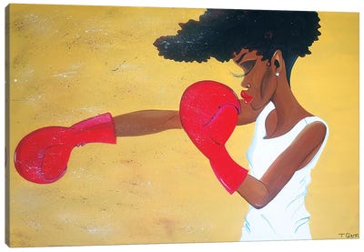 Heart Of A Champion Canvas Art Print