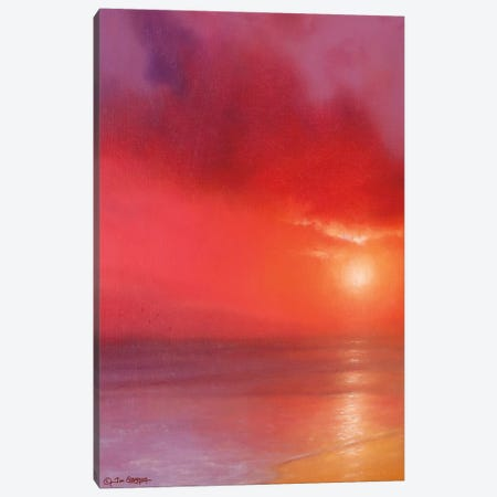 Sunset In Red Canvas Print #TGN5} by Tim Gagnon Art Print
