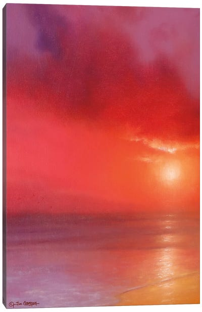 Sunset In Red Canvas Art Print