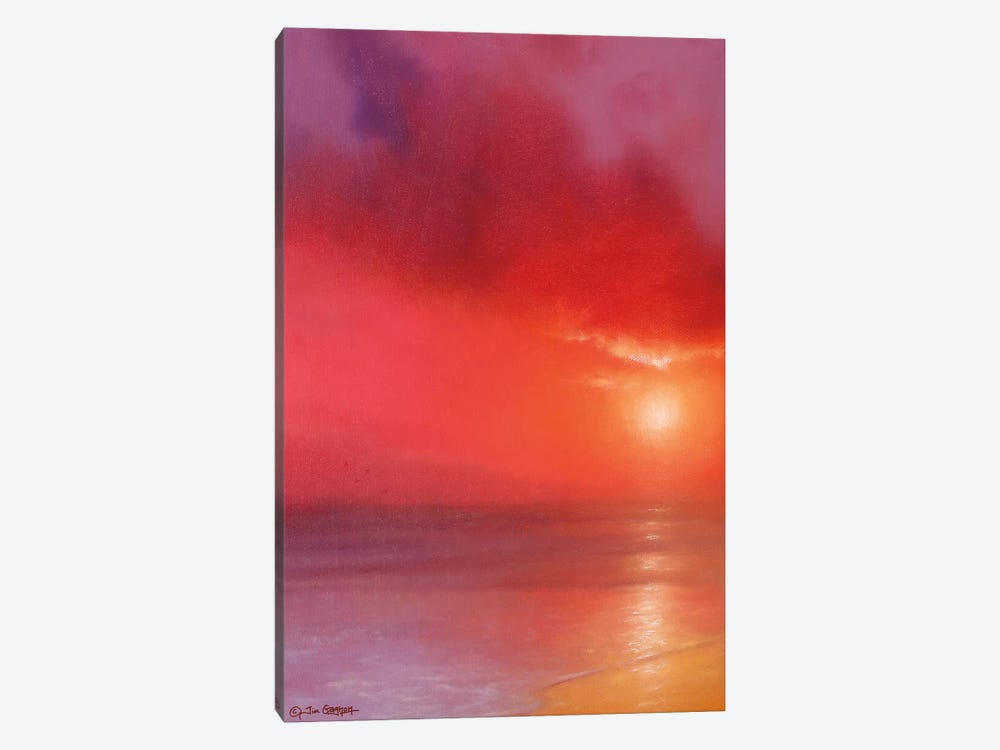 Sunset In Red by Tim Gagnon 1-piece Canvas Art Print