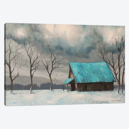 Winter Barn Canvas Print #TGN7} by Tim Gagnon Canvas Print