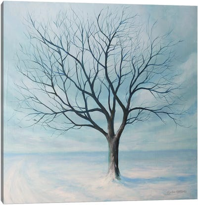Winter Tree Canvas Art Print