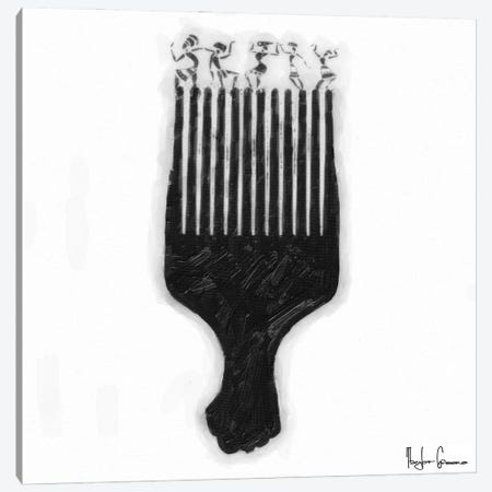 Afro Pick Canvas Print #TGR1} by Taylor Greene Canvas Art Print