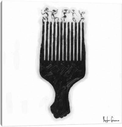 Afro Pick Canvas Art Print