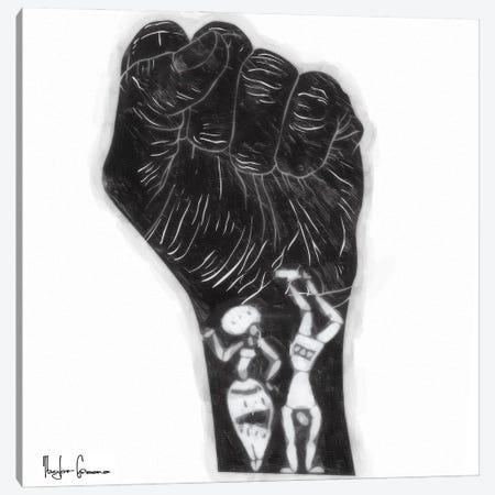 Black Fist Canvas Print #TGR2} by Taylor Greene Canvas Print