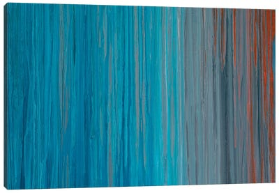 Drenched in Teal I Canvas Art Print