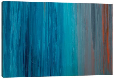 Drenched in Teal II Canvas Art Print