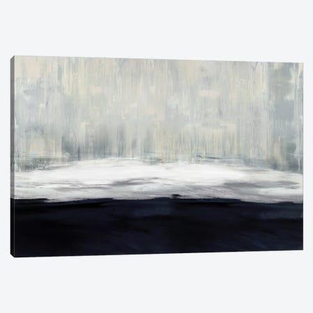 White On Blue Canvas Print #THA17} by Taylor Hamilton Canvas Art Print