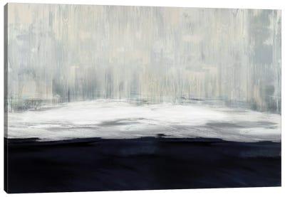White On Blue Canvas Art Print
