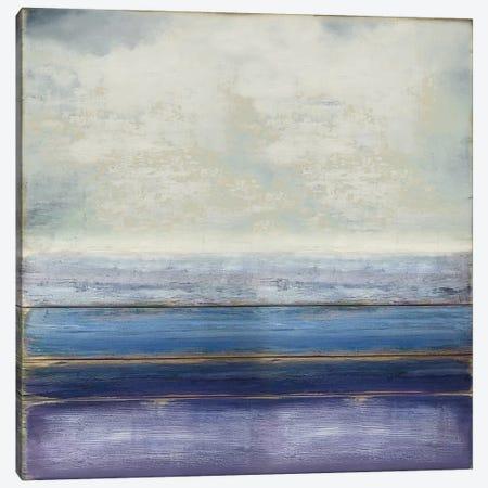 Blue and Amethyst 3-Piece Canvas #THA30} by Taylor Hamilton Canvas Art