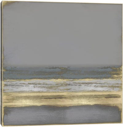 Gold on Gray Canvas Art Print