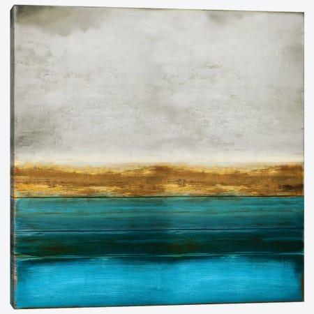 Gold onTurquoise 3-Piece Canvas #THA32} by Taylor Hamilton Canvas Art
