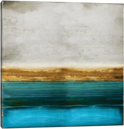 Gold onTurquoise Canvas Art Print
