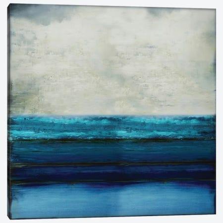 Highlighted Aqua Canvas Print #THA36} by Taylor Hamilton Art Print