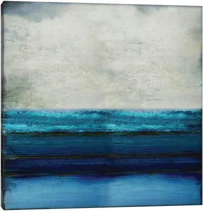 Highlighted Aqua Canvas Art Print