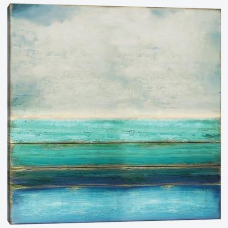 Highlighted Turquoise 3-Piece Canvas #THA41} by Taylor Hamilton Canvas Art Print