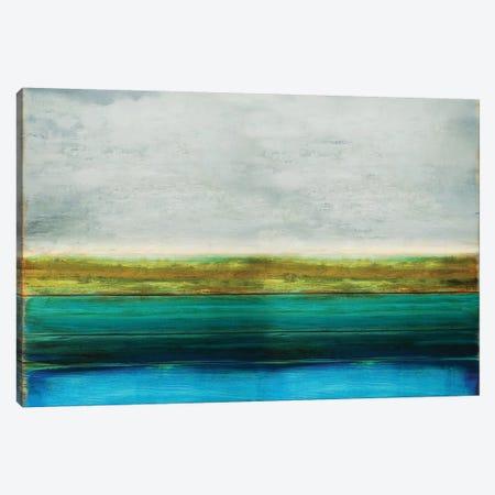 Turquoise Reflection Canvas Print #THA42} by Taylor Hamilton Canvas Art Print