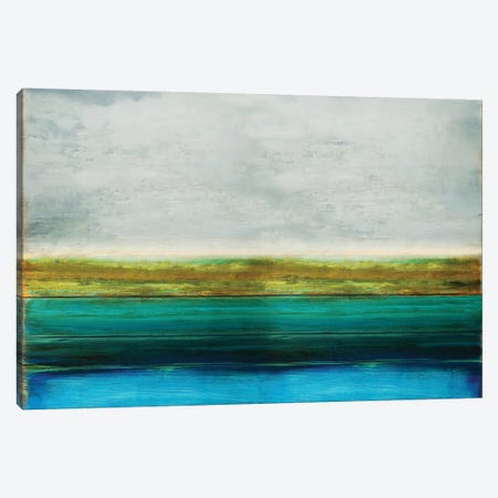 Turquoise Reflection Canvas Print #THA42} by Taylor Hamilton Canvas Art Print