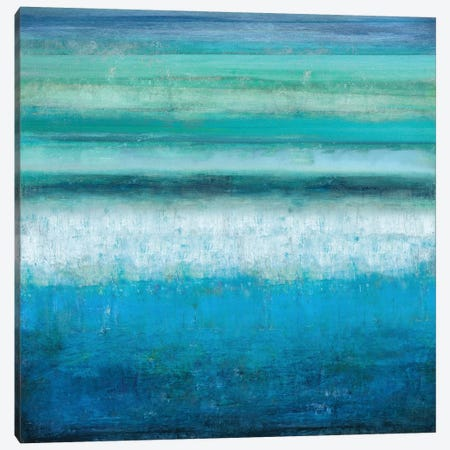 Aqua Tranquility Canvas Print #THA6} by Taylor Hamilton Canvas Art Print