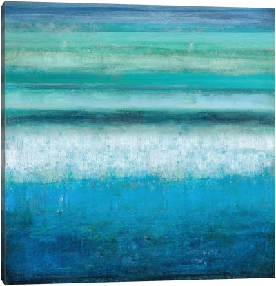 Aqua Tranquility Canvas Print #THA6
