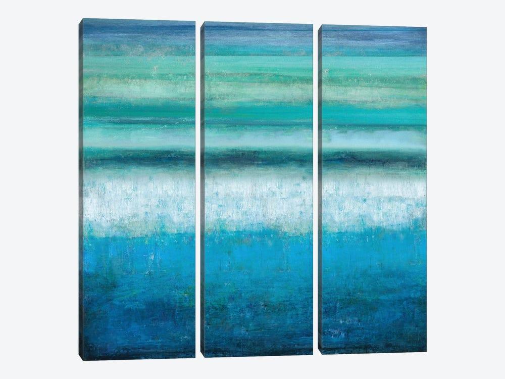 Aqua Tranquility by Taylor Hamilton 3-piece Canvas Print