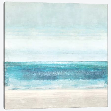 Azure Horizon Canvas Print #THA7} by Taylor Hamilton Art Print