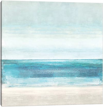 Azure Horizon Canvas Art Print
